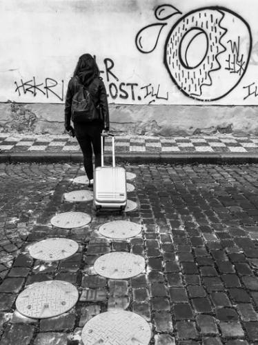 walking on dots